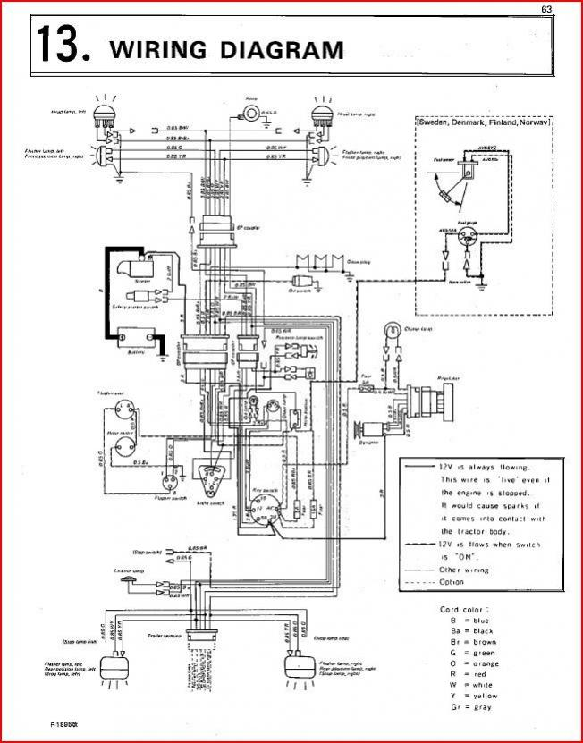 kubota alternator wiring diagram kubota discover your wiring b7100 dynamo wiring orangetractortalks everything kubota