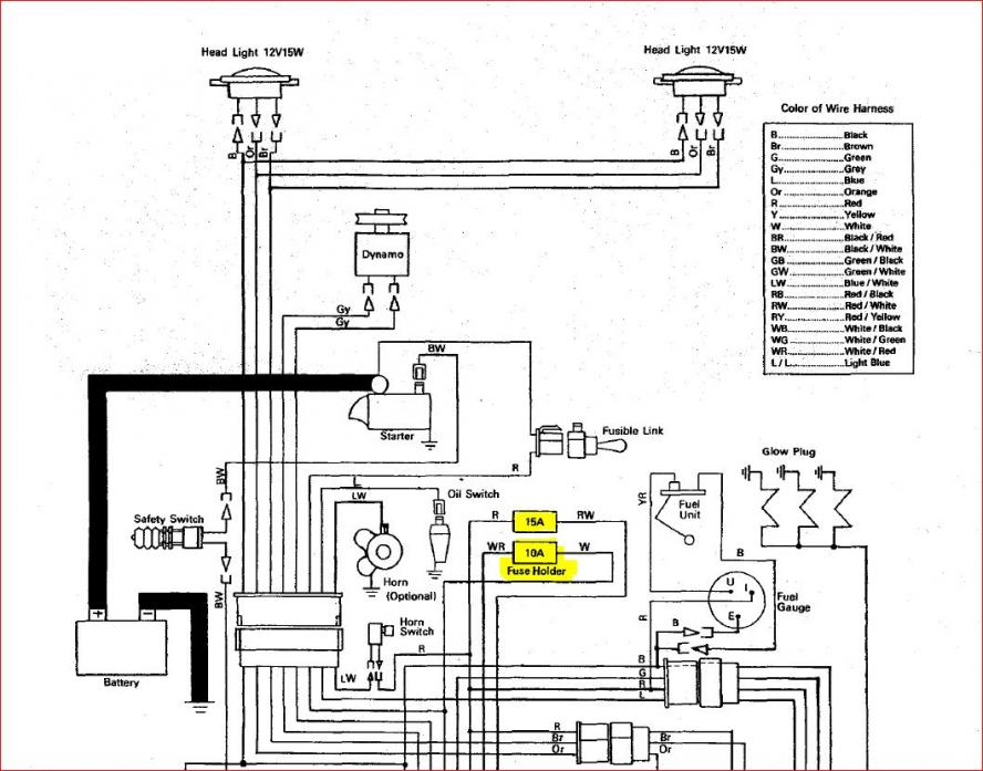 starter switch wiring diagram for kubota l175