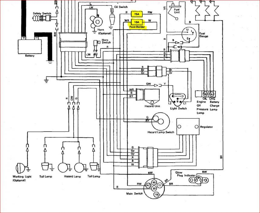 Kubota B7510 Diagram