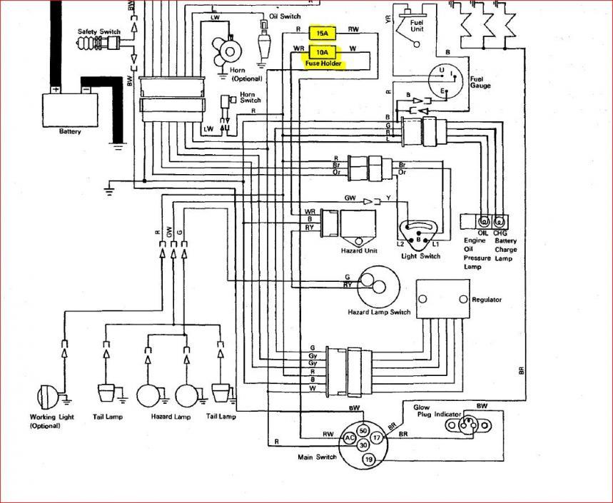Kubota L2500 Electrical Wiring Diagram