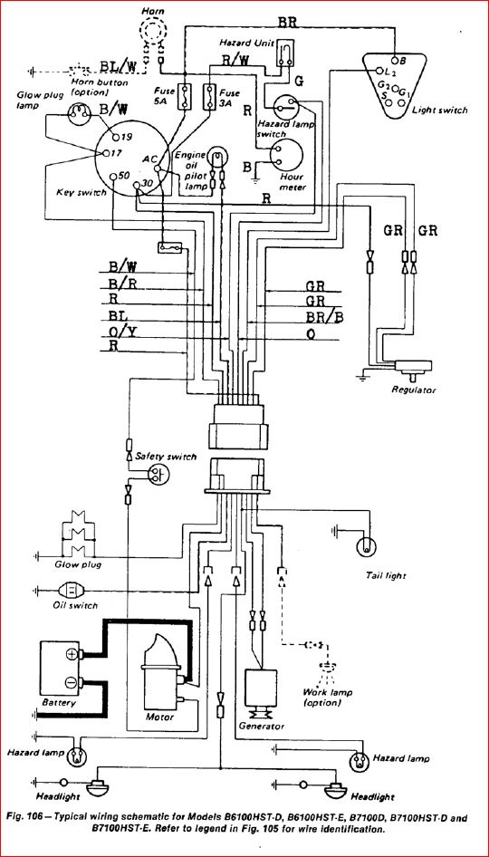 Kubota F250 Wiring Schematic F250 Engine Wiring Diagram