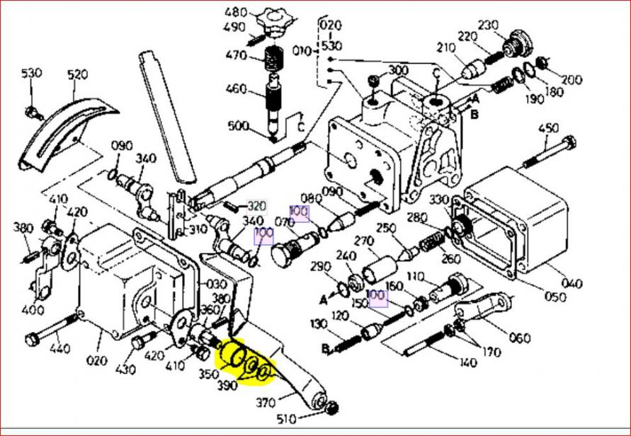 kubota b20 hydraulic parts diagram