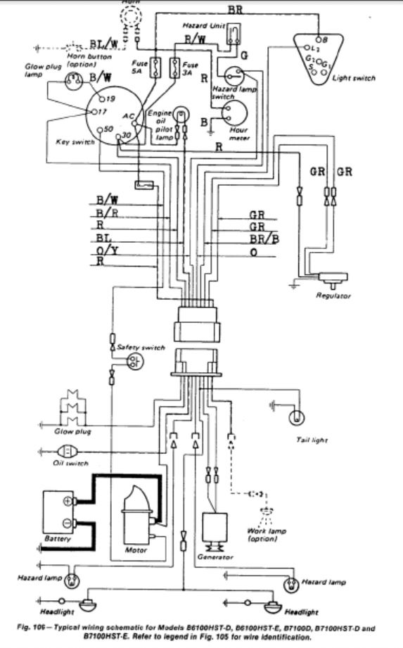 kubota alternator wiring diagram kubota b2620 wiring diagram - wiring diagram and schematic kubota b2320 wiring diagram