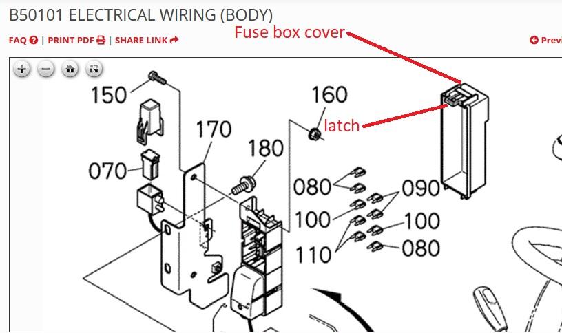 fuse box cover removal