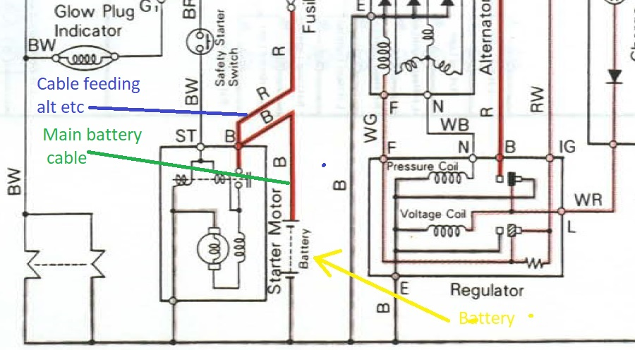[SCHEMATICS_43NM]  L2350 wiring -positive battery cable and the spare red wire |  OrangeTractorTalks - Everything Kubota | Kubota L2350 Wiring Diagram |  | OrangeTractorTalks