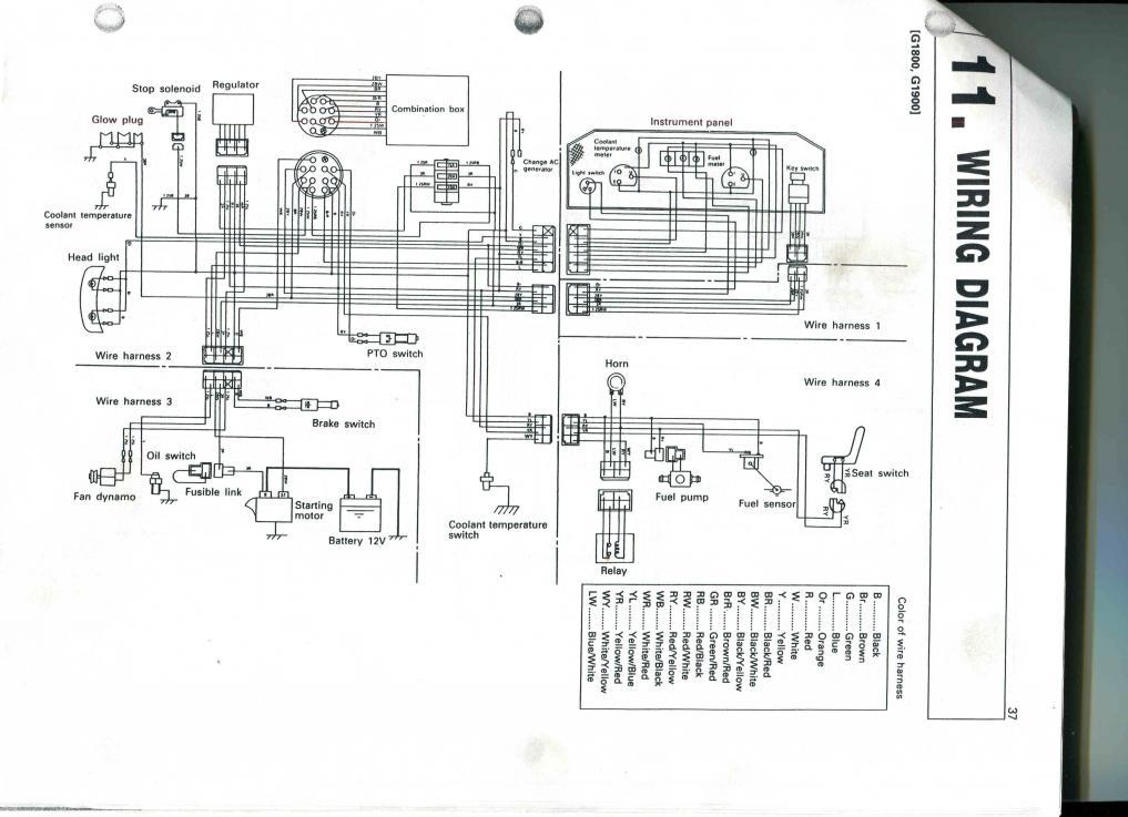 G1800 starting circuit problems? - OrangeTractorTalks ... on
