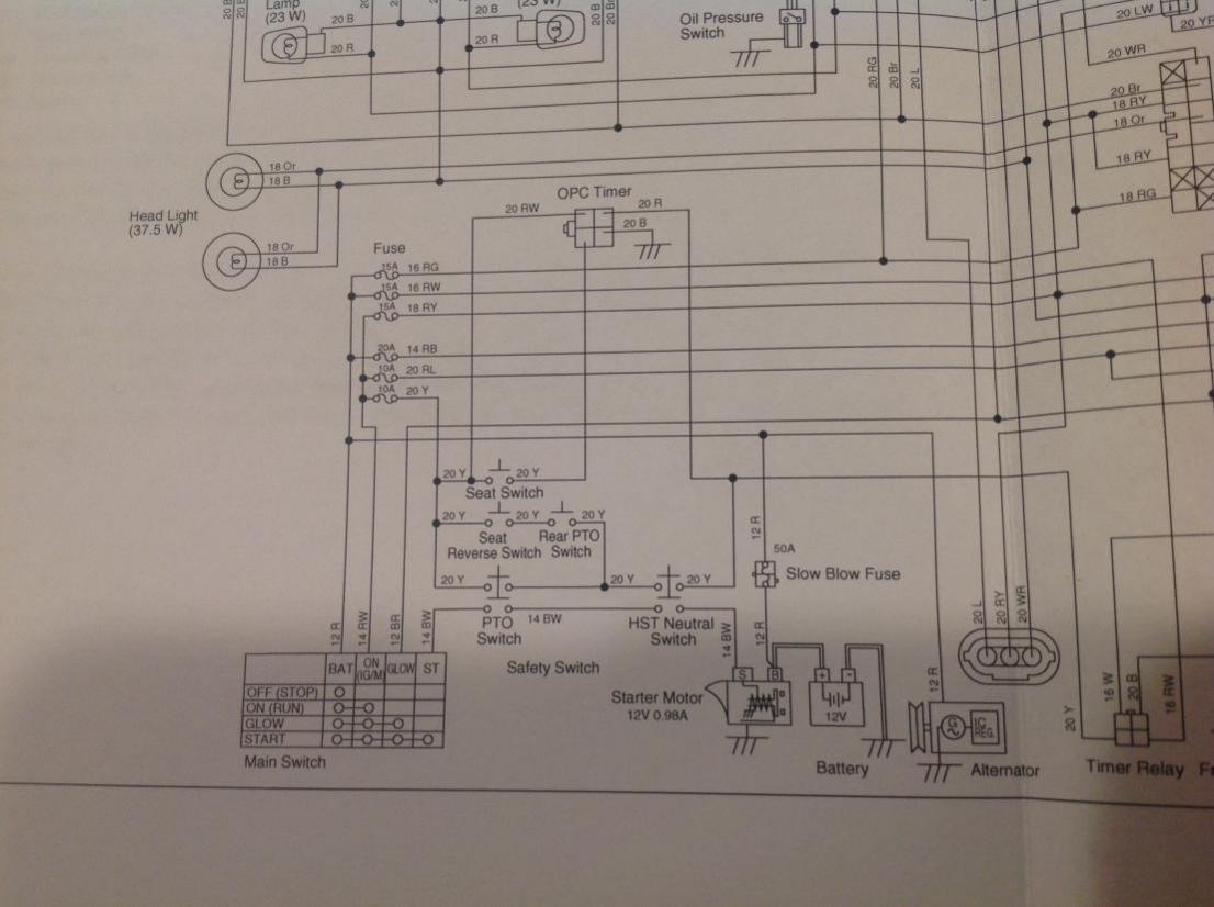 BX25D not starting by key - OrangeTractorTalks - Everything Kubota on kubota l2900 front axle diagram, kubota cooling system diagram, kubota zero turn mowers, kubota oil pressure sending unit, kubota emblem, kubota ssv, kubota parts, kubota schematics, kubota commercial mowers, kubota hydraulics diagram, kubota oil capacities, kubota z725, kubota r630, kubota serial number location, kubota farm tractors, kubota manuals, kubota l2600, kubota f3080, kubota rtv900 front axle assembly, kubota ignition diagram,