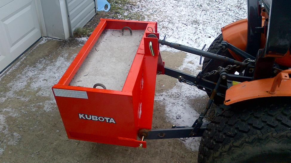 Kubota Ballast Box : Diy concrete wheel weights do it your self