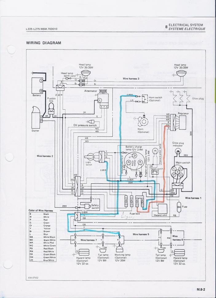Images of M9540 Kubota Wiring Schematic Wiring diagram schematic – L3200 Kubota Wiring Diagram