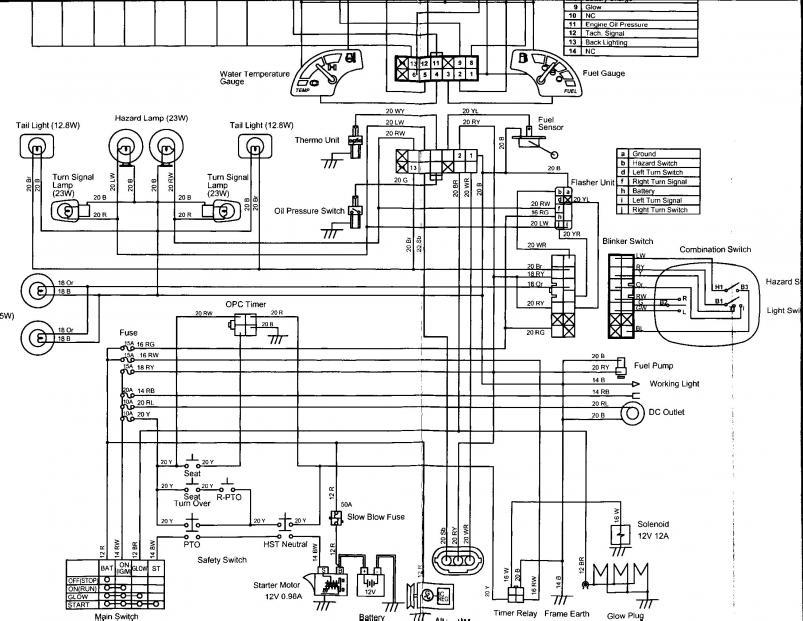 B7300 Kubota B7100 Wiring Diagram Kubota B8200 Wiring