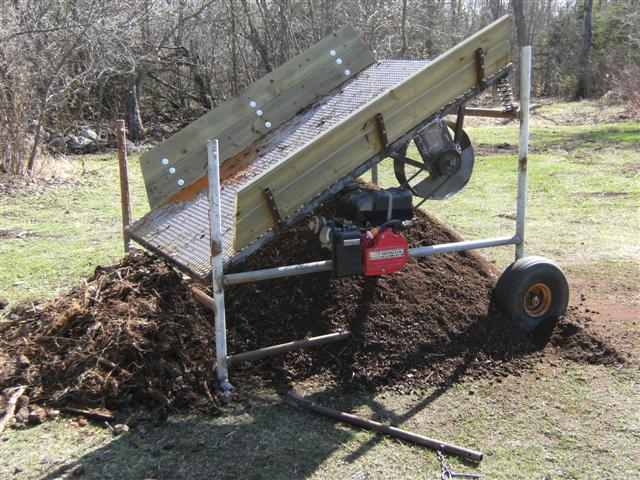 Diy topsoil screener diy do it your self for What is soil made out of