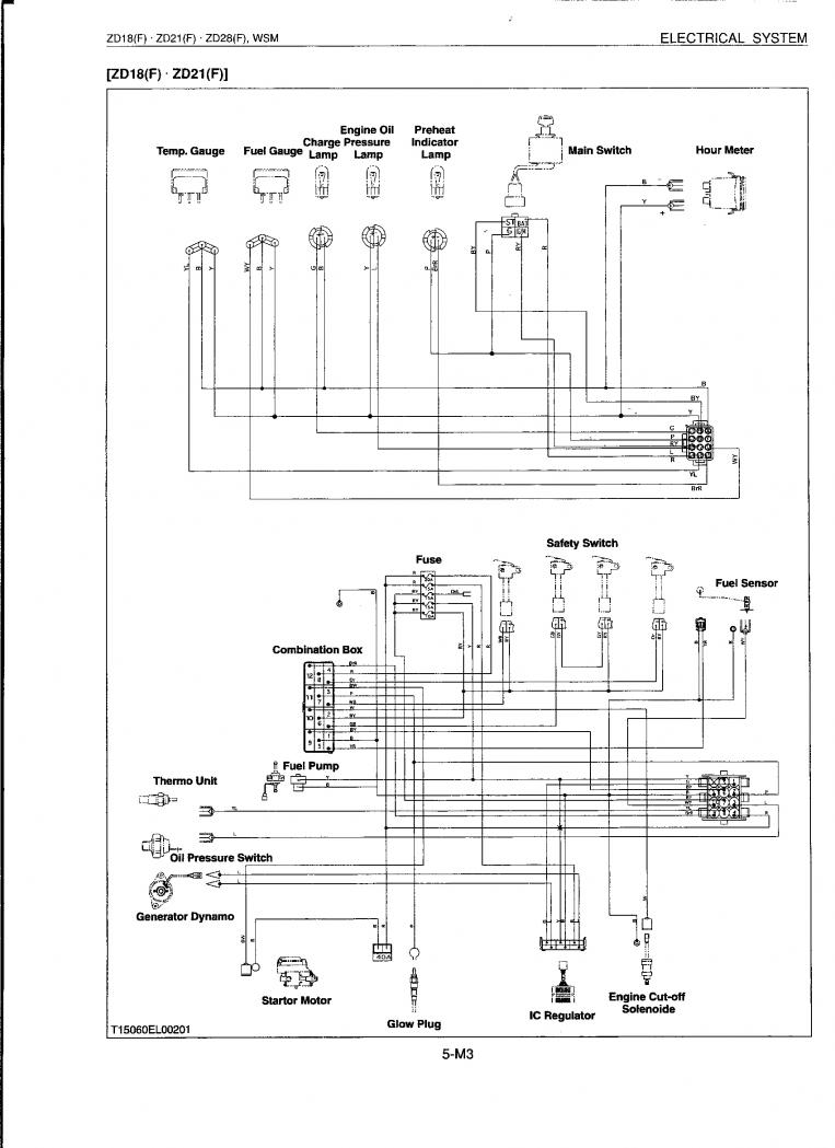 Turning Key Starter will not turn engine over or heat glo plugs – Kubota Wire Diagram