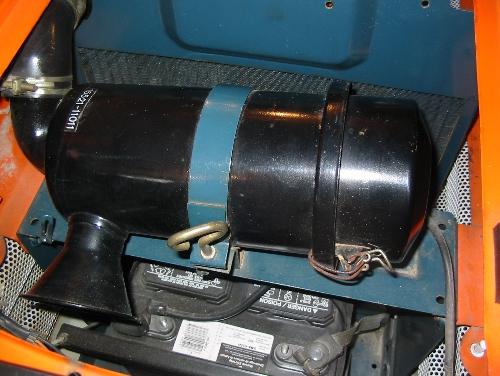 Remove air box end cap