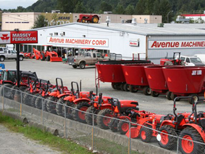 Avenue Machinery's dealership in Abbotsford, BC