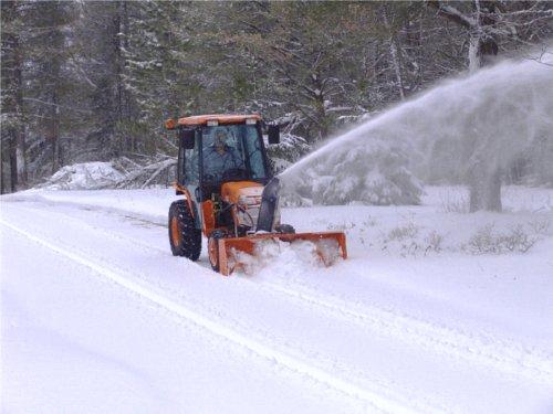 The business end of Steve Foulks' Kubota B3030 and snowblower.