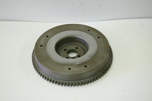 """Flywheels in your Kubota are 1.5-2"""" thick and typically weigh around 40-50lbs. They store momentum which steadies varying amounts of torque placed on the input shaft of the transmission by the engine."""