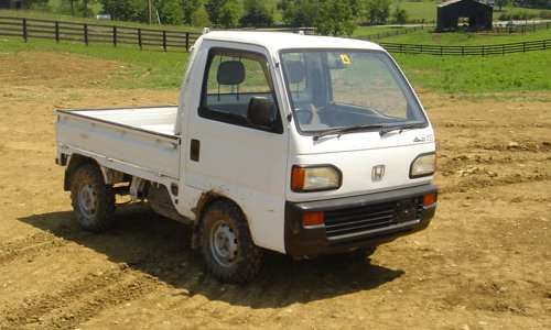 A Honda mini truck - the same type that are exported from Japan by the container load every year.