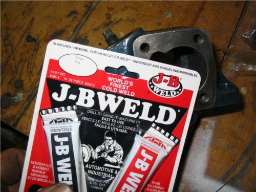 JB Weld. Handy in a pinch.
