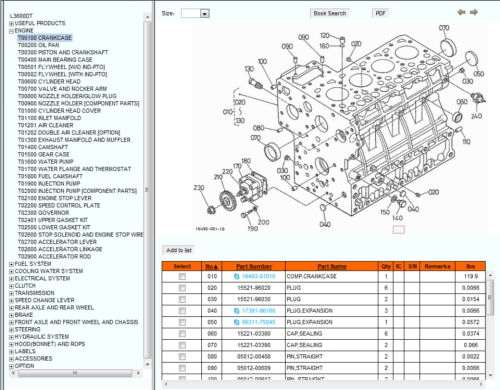 Kubotas Online Illustrated Parts Catalog – L2550 Kubota Engine Diagram