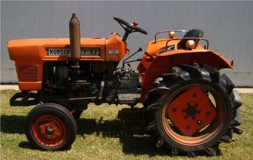A classic example of a gray market Kubota - the L1501.