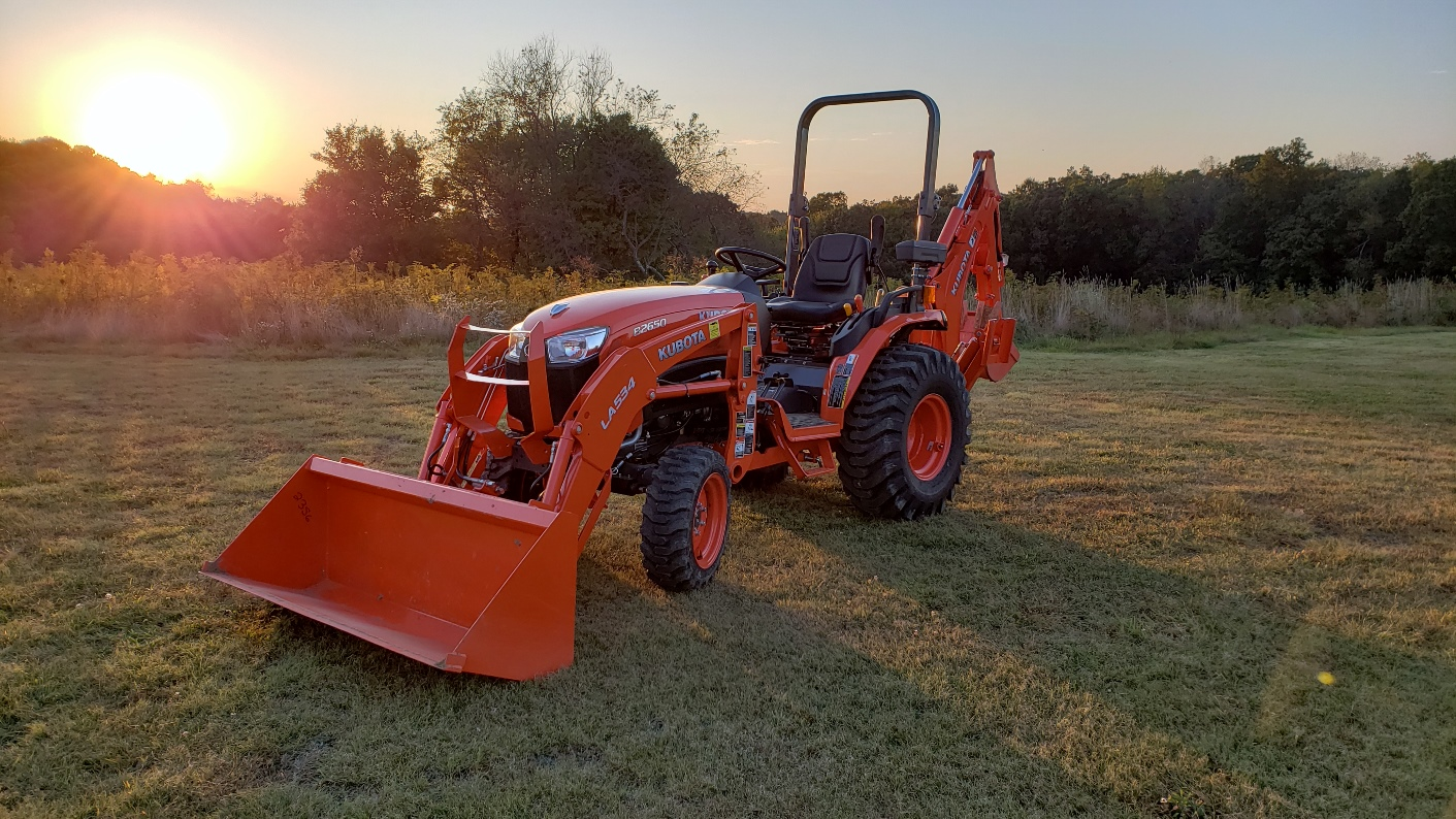 A Kubota B2650 by the sunset, posted by forum member PA452.