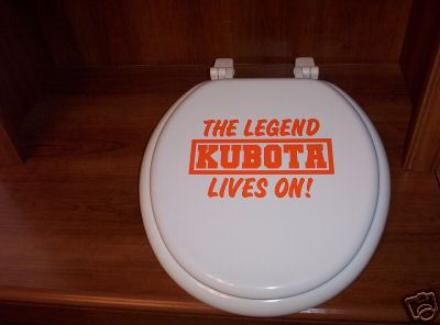 Perhaps this will inspire Kubota engineers to develop their own toilet seat in repsonse to growing consumer demand for restroom hardware.