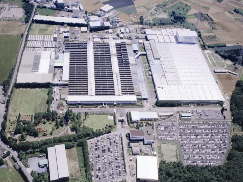 An aerial shot of Kubota's Tsukuba Japan manufacturing plant.