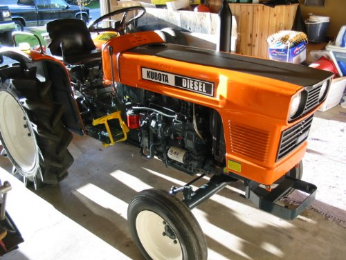 A late 1970s Kubota L2000 that has been repainted using some careful preparation, a spray can and the techniques described in this article