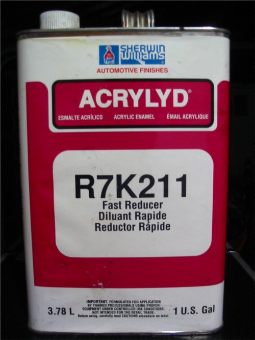 We use Sherwin-Williams R7K211 Fast Reducer when the shop is a bit chilly