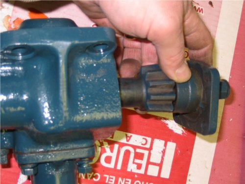 The sector shaft is attached to the end cover plate.