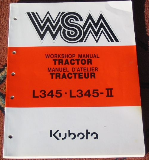 A typical Kubota WSM, this one for the L345